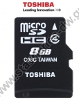 ����� ������ micro SD HC High Speed 8GB TOS MICROSD 8GB M102 CLASS 4 WITH ADAPTER NEW