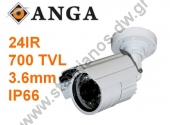 "K����� IR �� ���������� 1/3"" Cmos �� ���� 3.6 mm ��� ������� 700TVL �� ����� ������������ ���� IP66 AGE-708-SM"