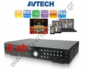 AVTECH AVZ308 9CH (8CH 4in1 + 1 IP) (Analog / AHD / CVI / TVI) H.264 Dual Stream 8CH 1080P Real Time Record / Real Time Playback