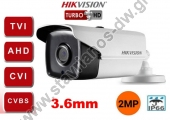 HIKVISION DS-2CE16D0T-IT5F Κάμερα Bullet με φακό 3.6mm και ανάλυση 2MP