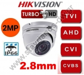HIKVISION DS-2CE56D0T-IRMF-2.8MM Κάμερα Dome με φακό 2.8mm και ανάλυση 2MP