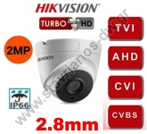 HIKVISION DS-2CE56D0T-IT3F-2.8MM Κάμερα Dome Turbo Hd με φακό 2.8mm και ανάλυση 2MP