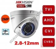 HIKVISION DS-2CE56D0T-VFIR3F Κάμερα Dome Turbo Hd με φακό 2.8 - 12mm και ανάλυση 2MP