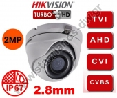 HIKVISION DS-2CE76D3T-ITMF-2.8MM Κάμερα Dome Turbo Hd με φακό 2.8mm και ανάλυση 2MP