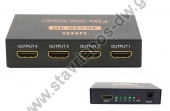 Splitter HDMI 4 θυρών 4K 3D SPL05
